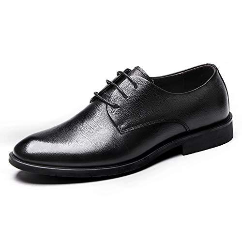 LXLA- Herren Business Formale Lederschuhe, Lace up Plain Toe Kleid Loafers Für Männer (Farbe : SCHWARZ, größe : 8.5 US/7.5 UK) Schwarz