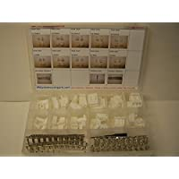 AMP TYCO MULTI LOCK WHITE CONNECTORS, STAMPED TERMINALS AND TOOL. 241 PIECE SET, LIGHT TURN SIGNAL +, OEM HARLEY, CAT, AUTO