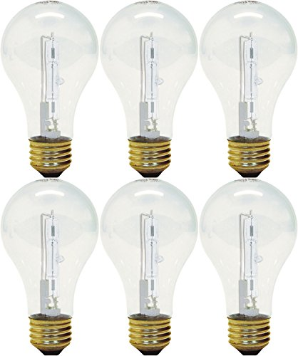 GE Lighting 78796 43 Watt Clear A19 Halogen Light Bulb pack of 3 (each 2 bulbs) 60w Ge Lighting