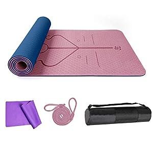 DBG - Tappetino da Yoga in TPE, Antiscivolo, con Superficie Strutturata migliorata per Una Maggiore aderenza, Tappetino da Allenamento Antiscivolo per Tutti i Tipi di Yoga, Pilates e Fitness 1 spesavip
