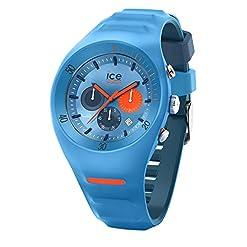 Ice-Watch - P. Leclercq Light Blue - Montre Bleue pour Homme avec Bracelet en Silicone - Chrono - 014949 (Large) 2