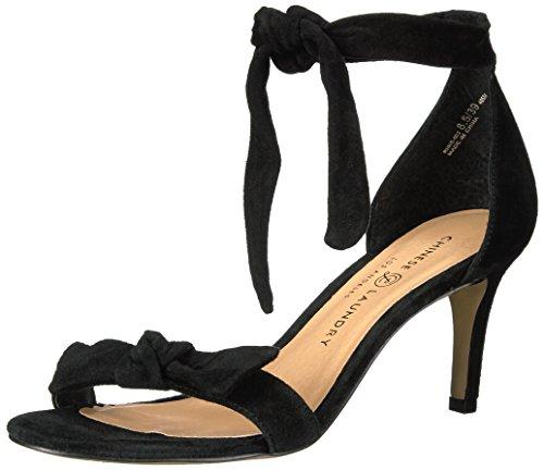Linge Chinois Robe Rhonda Femme Sandale Noir Daim