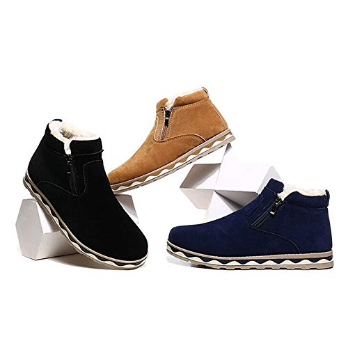 Invierno Zapatos De Nieve Cálidas Zapatillas Felpa Impermeables Jiameng Antideslizantes Casuales Hombre Azul Botas Hombres B8F8pU