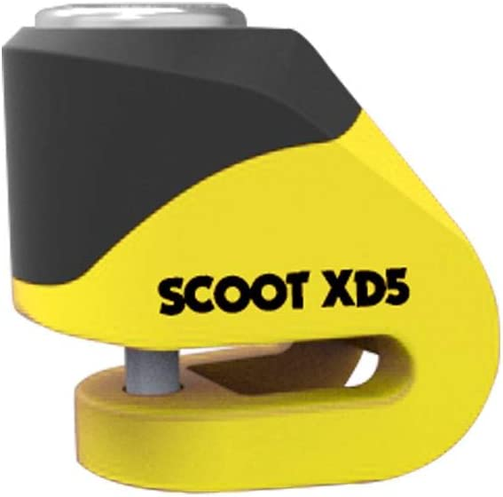 Wing Mirrors World PIAGGIO MEDLEY 125 Oxford Motorcycle Security Scoot XD5 Disc Lock Yellow LK260