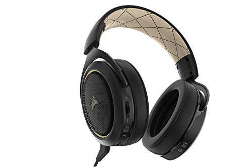 41m4sK5 VbL - CORSAIR HS70 SE Wireless - 7.1 Surround Sound Gaming Headset - Discord Certified Headphones - Cream