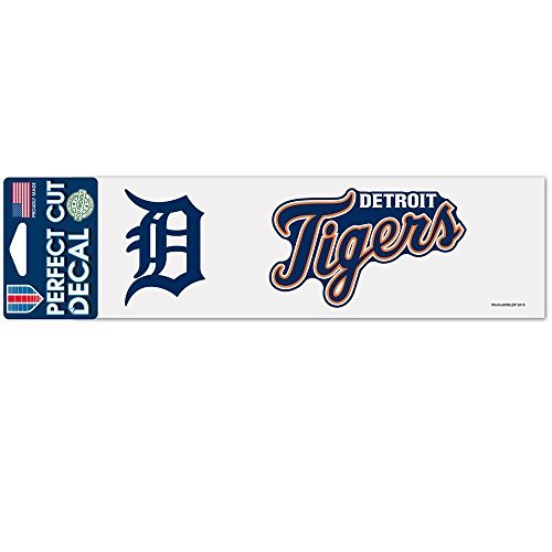WinCraft MLB Detroit Tigers 3x10 Perfect Cut Color Decal, One Size, Team Color
