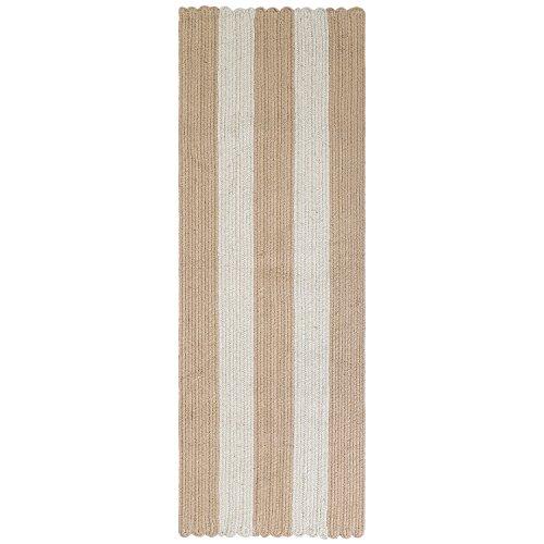 LOCHAS Braided Area Rug Hand Woven Reversible Solid Jute Carpet for Living Room Bedroom Diningroom Runner Rugs, 1.5' x 4.5' by LOCHAS
