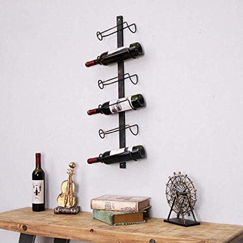 YASE-king 現代のミニマリストのワイン:ワインラックワインは、レトロなメタルワインウォールワインラックラックラックウォールマウントワインキャビネットクリエイティブ六層マグカップワインは、ワインがセットワイングラスラック(メタル材料)ラックラックウォールマウント