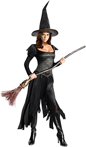 [Rubie's Costume Disney's Oz The Great and Powerful Wicked Witch Of The West Dress and Hat, Black,] (Wicked Witch Of The West Costume Disney)