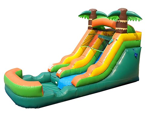 Pogo Bounce House Inflatable Water Slide, 12-Foot Tall, 21-Foot Long, 9-Foot Wide, Crossover Tropical Oasis Complete, with Included Blower, Stakes, Repair Kit, and Storage Bag by Pogo Bounce House (Image #6)