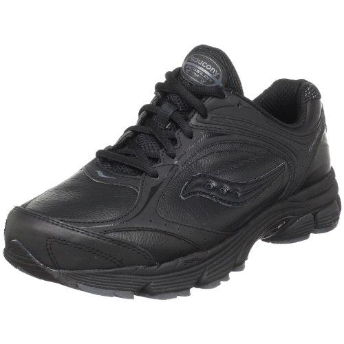 Saucony Women's ProGrid Echelon LE Walking Shoe,Black/Grey,7.5 W US