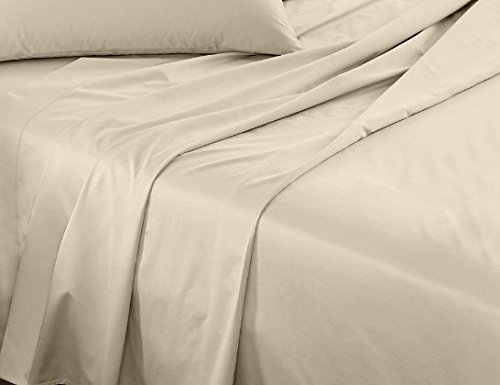 Calico Homes 1000 Thread Count 100% Egyptian Cotton Ultra Soft 1 Piece Flat Sheet (Top Sheet) King Size Ivory Color