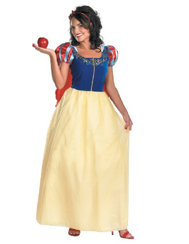 Disguise Women's Disney Snow White Deluxe Costume, Yellow/Red/Blue, X-Large (Adult Disney Characters Costumes)