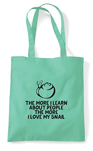 Snail Lover Tote Shopper The Learn People Animal Bag Love About Mint I More Pets My Funny Person WqvwZq0FnO