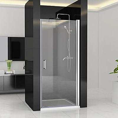 80 x 197 cm drehtür Puerta oscilante para puertas para mampara de ducha pared ducha Nano Cristal Zap + L1: Amazon.es: Bricolaje y herramientas