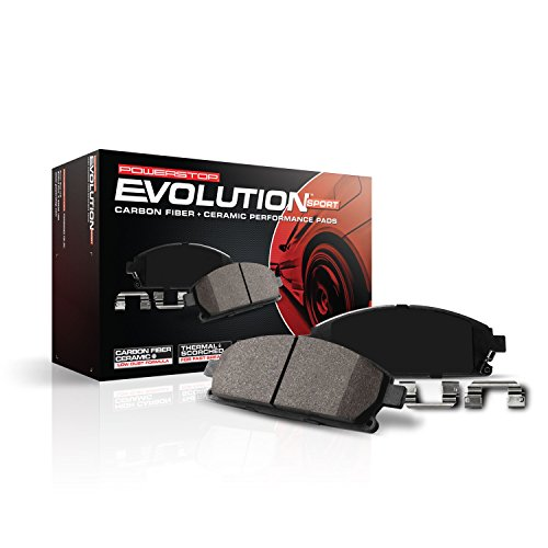 Power Stop Z23-465, Z23 Evolution Sport Carbon-Fiber Ceramic Front Brake - Accord 93 Honda Carbon