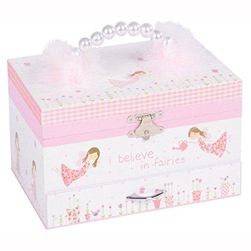Fairy Blossom Classic Musical Jewelry Box Plays Dance of the Sugar Plum Fairy ()