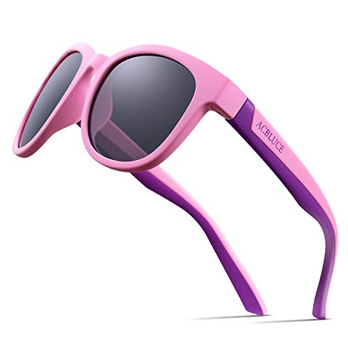 Junior Sport Swiss - Girls Sunglasses Polarized for Child Youth Junior Sport Teen Rubber Kids Toddler Glasses