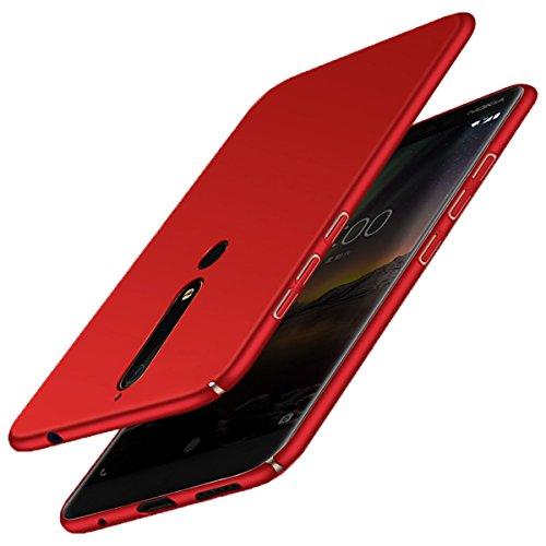 Pc Blu Rosso Custodia antiurto graffio rigida Custodia 2018 per 6 rigida Custodia Ultra per Nokia Nokia Case 2018 protettiva Adamark posteriore anti Slim nokia per Custodia Scrub n47qT8xAFw
