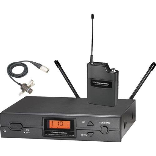 Audio-Technica 2000 Series ATW-2192b Frequency-Agile True Diversity UHF Wireless System, Includes ATW-R2100b Receiver, ATW-T210a UniPak Transmitter and BP892cW MicroSet Omnidirectional Headworn (2000 Series Unipak Wireless System)
