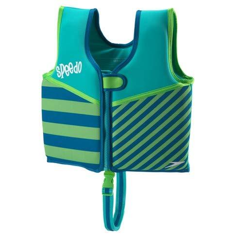 (Speedo UV Neoprene Swim Vest Green/Blue (Wave logo) size M (Ages 2-4y))