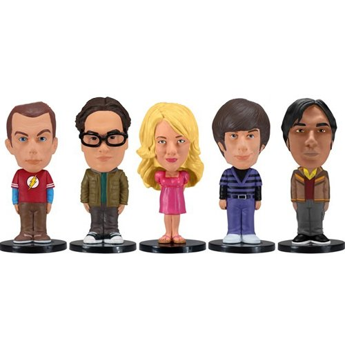 Wacky Wobbler - Pack 5 Mini Figuras de 8 cm, diseno The Big Bang Theory (Funko FUNWWBT28