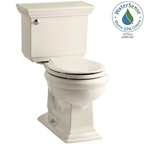 Kohler Memoirs Stately 2-piece 1.28 GPF Round Toilet with AquaPiston Flushing Technology in Almond