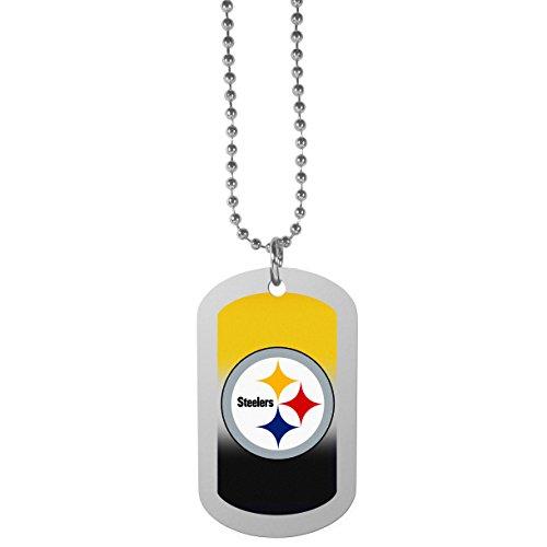 Siskiyou NFL Pittsburgh Steelers Team Tag Necklace, Steel, 26