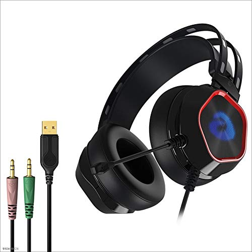 Yingui Computer Headset, Volume Control, with Microphone, Earmuffs, Wired Stereo Enhanced Bass Noise Reduction, PC Laptop Gaming Headset by Yingui