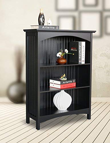 eHemco 3 Tier Bookcase in Black