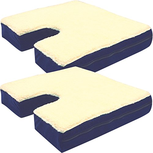 ((Set/2) Portable Coccyx Pressure And Pain Relief Density Foam Gel Cushion)