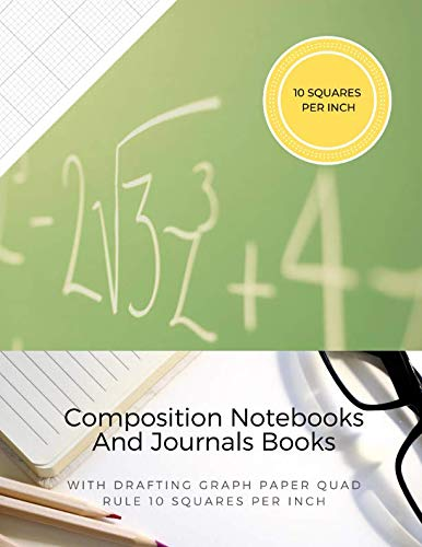 Composition Notebooks And Journals Books With Drafting Graph Paper Quad Rule ( 10 Squares Per Inch ): Graphing Notebook Journal Book College Ruled Square Grid Minimalist Art Numbered Pages Volume 8