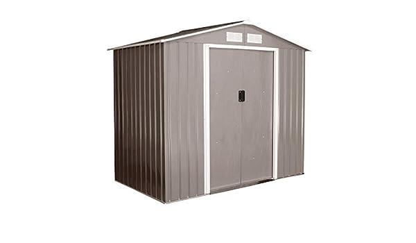 ZAMAX cobertizo de acero galvanizado para herramientas de almacenamiento, puertas correderas dobles, resistente a la intemperie, para el hogar, jardín, herramientas, armario, garaje, caja de almacenamiento grande: Amazon.es: Bricolaje y herramientas