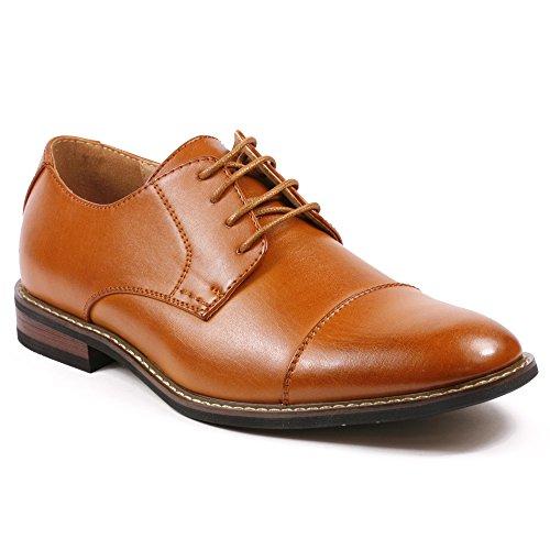 Metrocharm Alex-04 Mens Lace up Cap Toe Oxford Dress Shoes