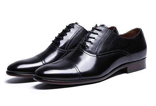 Patente de Negocios Retro Zapatos Black Cuero de de Cuero Oxford para Zapatos Completo 47 de de de Size Brown EU Vestir Color Hombres de MXNET Grano zfqwO6OZ