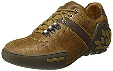 Woodland Men's Camel Leather Sneakers-5 UK/India (39 EU) (GC 0580108CMA)
