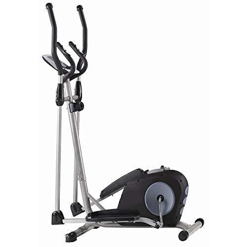 Crosstrainer voor cardio-training, crosstrainer, fitnessapparaat, met LCD-monitor, crosstrainer