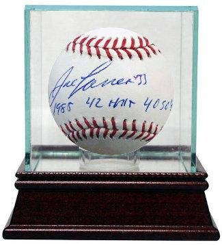 (Jose Canseco signed Official Major League Baseball triple 1988, 42HR'S & 40 SB's w/Glass Case (Oakland A's))