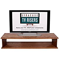 Special Walnut XX-Large DOUBLE TOP TV RISER 44X16X8 3/4OUTSIDE 41x15x7 1/4 high INSIDE DIMENSIONS