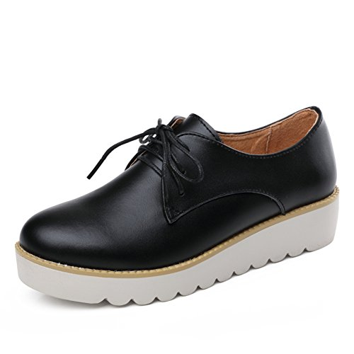 Primavera Zapatos Mujer Casual,UK Air Zapatos,Zapatos De Mujer Planos,Zapatos De Mujer Cuero Suela Gruesa A