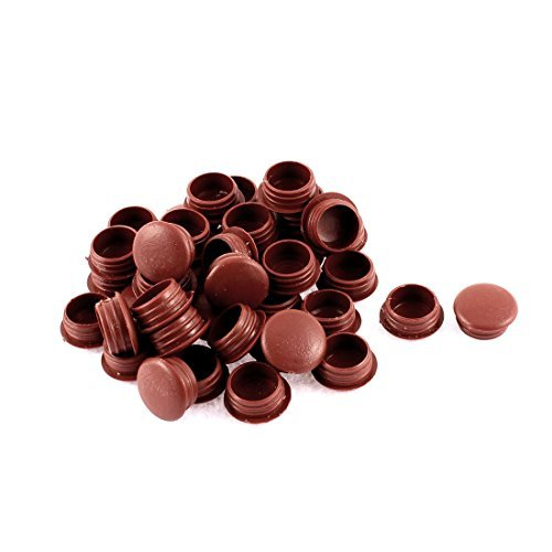 DealMux Plastic Home Furniture Chair Table Legs Decor Hole Tube Insert 40pcs Burgundy Burgundy Insert