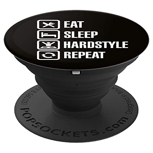 (Funny eat sleep Hardstyle repeat house party gift idea - PopSockets Grip and Stand for Phones and)