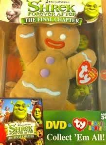 SHREK FOREVER AFTER The Final Chapter DVD & TY Ginger Bread Man Beanie Babie (Shrek Ginger Bread Man)