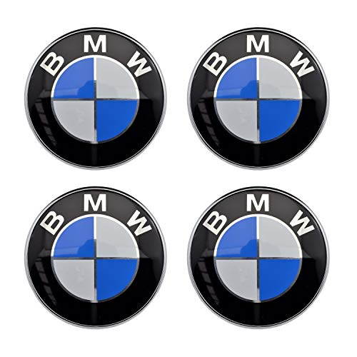 4PCS 56.5mm 2.2'' Auto Car Sticker Wheel Center Hub Cap Logo Aluminium fit for BMW
