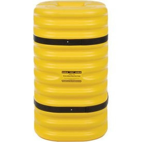 Eagle 1709 Column Protector, 24'' Length x 24'' Width x 42'' Height, For 9'' Column, Yellow