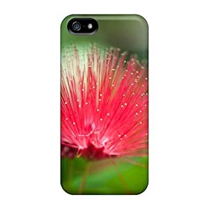 ChrismaWhilten Shockproof Scratcheproof Beautiful Red Flower Hard Cases Covers For Iphone 5/5s