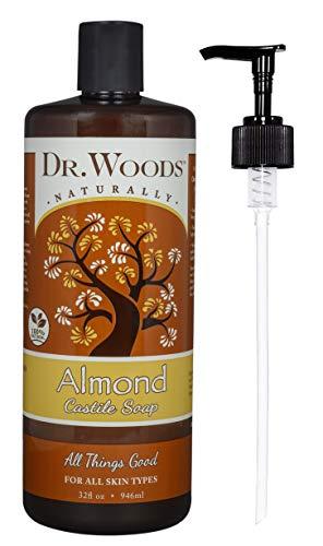 (Dr. Woods Pure Almond Liquid Castile Soap with Pump, 32 Ounce)