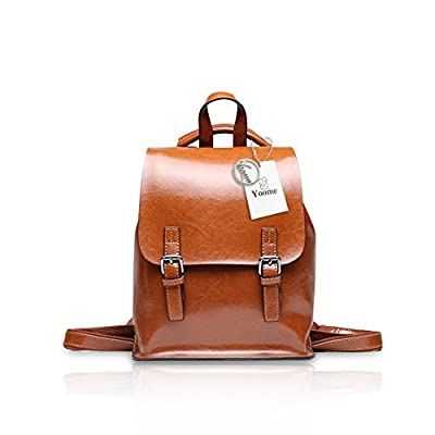 b7cc825a1b outlet Yoome Vintage Oil-Wax Leather Backpack Multifunction Purse for Women  School Bag for Girls