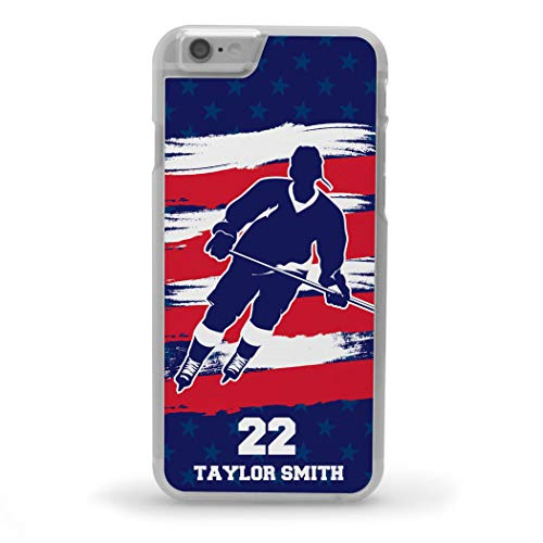 Custom Hockey iPhone 6/6S Case   Personalized Hockey Patriot (Personalized Hockey Iphone)