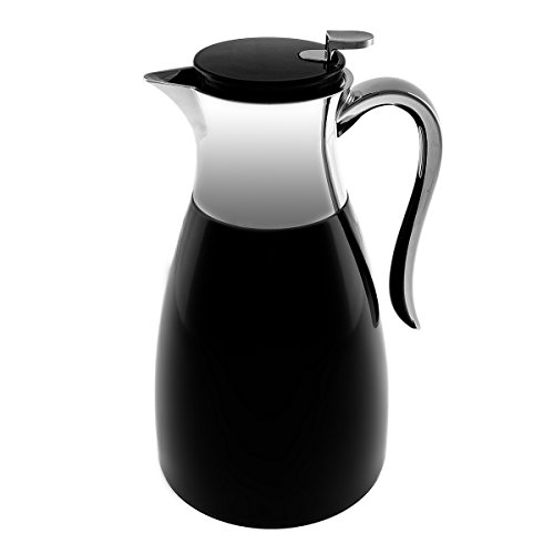 Service Ideas Vacuum Insulated 1.5 L Carafe Stainless Steel Coffee Tea Server ()